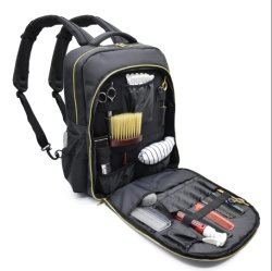 Outils étanche Salon de Coiffure Salon de Coiffure sac, un coiffeur de grande capacité de charge USB Bagpack cosmétique avec
