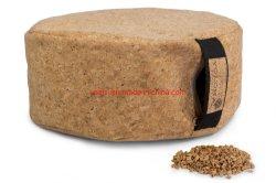 Eco-Friendly travesseiro Almofada de meditação de ioga de cortiça com enchimento de cortiça