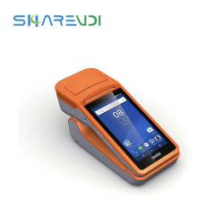 """プリンターが付いているGPRS 3G WiFi NFCの読取装置の人間の特徴をもつスマートな手持ち型の可動装置5の""""インチのタブレットPOSの移動式ターミナル、カメラ機能"""