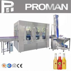 Stable 4, 000 BPH Automatische Pet Glass Bottle productie Drank maken Drinksap bottelen Plant Gecarboneerde CO2 water verpakking wassen vullen capping Line