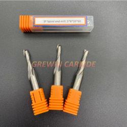 Het Carbide van GW - Spiraalvormig Carbide 2 CNC van de Bit van de Router van de Houtbewerking van de Snijder van de Fluit de Houten Scherpe Hulpmiddelen van de Hand
