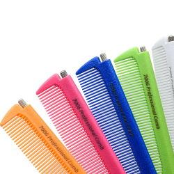 Cepillo de pelo pasador de metal Tail peines Peluquería Peluquería peine flexible herramienta