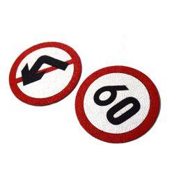 De weerspiegelende Gids die van de Weg Stickers merken houdt Afstand