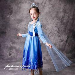 [إلسا] فصل خريف جديدة جليد أميرة [درسّ] [كلورس] [هيغقوليتي] حزب ثوب مهرجان زيّ. جدي ملابس. جديات لباس. أطفال يلبّي. أطفال ملابس