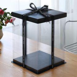 De haut grade clair Boîte en plastique OEM Gâteau Emballage de cadeau de gros de cas