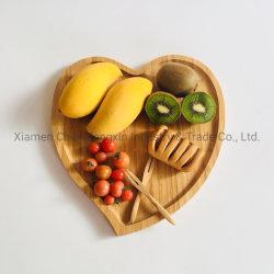 Настраиваемые бамбук любви в форме сердечка конфеты закуска гайки пластины лотка для бумаги