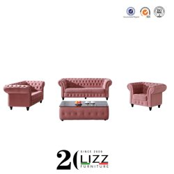 Französische Art-Polsterung-Gewebe-Sofa-Ausgangsgroßhandelsmöbel-königliches klassisches Sofa