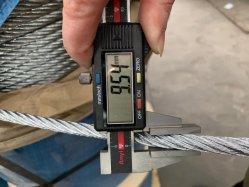6X15+7Galvanizado Alambre de acero de FC de la cuerda de enlace de la cuerda de 10mm12mm16mm18mm Núcleo de fibra