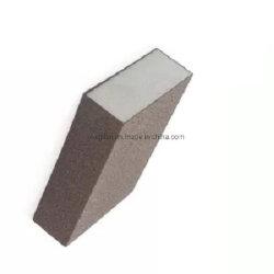 Les plaquettes de polissage abrasif Four-Sided marron éponge bloc de ponçage