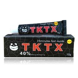 Tktx الجملة الخز كريم 40 ٪ مخدر بالبنط الأسود عميق بسرعة تنميل كريم بدون أكسد