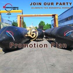 Borracha Nanhai Airbag Marinho para lançamento de navios de draga, barco de pesca, rebocador, Dhow e barco inflável, Ferry
