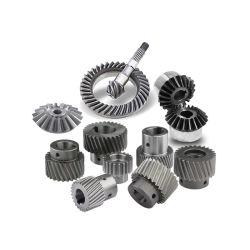 ترس مخصص محرك تفاضلي من الفولاذ المقاوم للصدأ المعدني والبلاستيك محرّك الدوران حلزوني لولبي لعمود بنيون ذو عمود التاج ذو الدوران تروس ناقل الحركة المخروطي