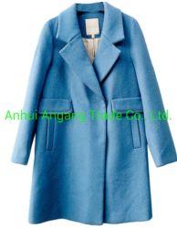 Grandes solapas Show fino mediano y largo abrigo abrigo de lana para mujer
