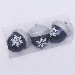크리스마스 나무 훈장을%s 도매 진한 파란색 빛나는 그려진 크리스마스 공