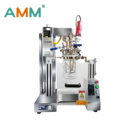 AMM-1L 실험실의 재결된 유리 초음파 진공 호모나이저 교반기 유화기 공정 반응용 전기주전자를 혼합합니다