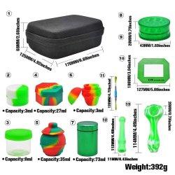 All-in-one all'ingrosso silicone Smoking Tool Kit Pipe pill Box sigaretta Dispositivo di macinazione Accessori per tabacco a chiodo in titanio