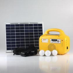 3 lâmpadas de LED/10W de energia solar sistema de poupança de Sistema de Iluminação Kit//LED/Luz de LED para áreas Electricity-Lack