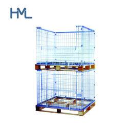 Евро Складной металлический корпус проволочной сетки для хранения поддона для продажи