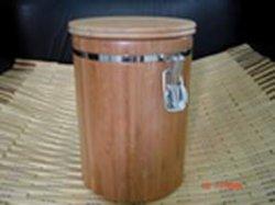 O recipiente de armazenamento de bambu
