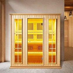 Infrared lontano della famiglia 4 della persona di uso del Cabine De Sauna Preo di sauna giapponese dell'interno del sesso