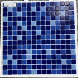 فوشان مبنى جديد ديكور شعبي مادة أزرق حمام سباحة لامع زجاج بلوري من الفسيفساء تجانب الحائط