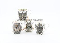 Promoção de cerâmica personalizadas caneca meu escritório caneca grés chávena de chá