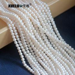 4-5mm ronda muy buena de perlas de agua dulce de cultivo natural mayorista de material (XL180003)