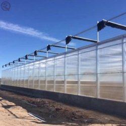 Estructura de acero Multi-Span Hoja PC crecer jardín invernadero tienda