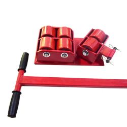 O rolo de transporte da máquina pesada Skids Carrinho de patins em movimento