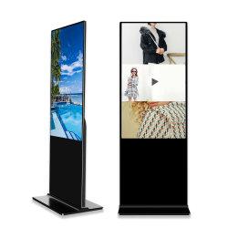 Cartellonistica digitale interattiva LCD HD indipendente da pavimento da 55 pollici Lettore video pubblicitario con schermo a sfioramento a infrarossi LCD con I3 I5 I7 Display pubblicitario