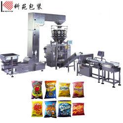 자동 간식/감자 칩/비스킷/라이스/팝콘/곡물/씨/견과류/설탕/드라이 과일/냉동 튀김 음식은 계속 포장합니다 포장 기계