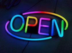 LEIDENE van het Teken van de Flits van de kleur Open Open Signage van de Strook voor de Decoratie van het Venster van de Winkel