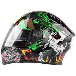 ABS Shell de Koele Goedkeuring Filp van de PUNT van Overdrukplaatjes op de Helm van de Motorfiets