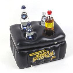 Dispositivo di raffreddamento gonfiabile nero della frutta della bevanda del galleggiante del raggruppamento della benna di ghiaccio della bevanda