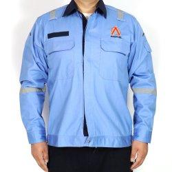 65%algodão poliéster impermeável Spandex Vestuário Stretch com a fita refletora