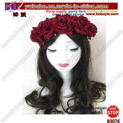 Bandeau rose fleur sèche couronne Boho Garland Wedding Cheveux décoration (B3076)