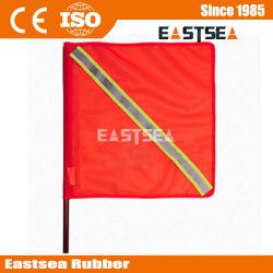 사려깊은 테이프를 가진 교통 안전 PVC 직물 깃발