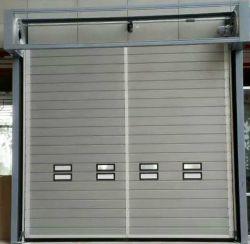Rotación rápida espiral de aleación de aluminio puerta Industrial