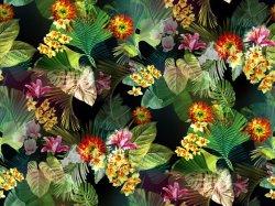 100% Flor de Nylon impresso tricot de tecido (ASQ095)