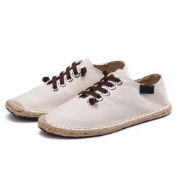 中国の製造業者はリネンジュート様式の人の靴のキャンバスの人の偶然靴を卸し売りする
