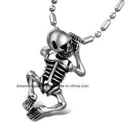 Halsband van Pandant van de Schedel van het Skelet van het Staal van de manier de Koele Punk