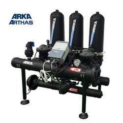 """3 Systeem van de Filter van de Schijf van het Type van """" 3 Eenheid T het Auto Backflushing voor het Systeem van de Irrigatie van de Behandeling van het Water van de Landbouw"""