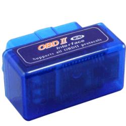 Mini Bluetooth ELM327 OBDII bleu du détecteur automatique
