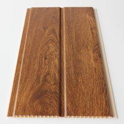 Panneaux de plafond du grain de bois plastique PVC brillant Techo du panneau de PVC pour le marché en Amérique du Sud