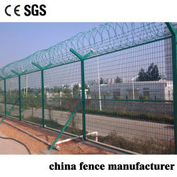 4mm/5mm de espessura do fio de aço de baixo carbono revestido de PVC de malha de metal expandido cerca para parede de limite