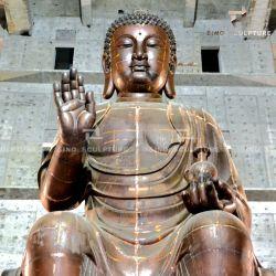 塗られるLacuqerの金属の銅の仏の大きい彫像