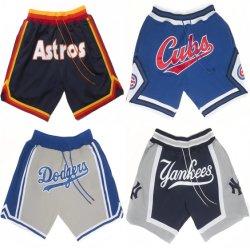 Shorts di baseball del Dodgers delle yankee del Don M-L-B Astros Cubs del commercio all'ingrosso appena
