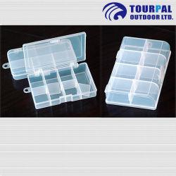 Casella di plastica di richiamo della casella di attrezzatura di pesca della mosca delle 12 cellule con i pp ambientali materiali