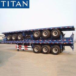 2/3/4 Container/Nut/Lading van Assen 20FT 40FT 45feet Flatbed/van het Bed van het Platform de Pan Verlengbare Vlakke Semi Aanhangwagen van de Vrachtwagen van de Tractor door het Voertuig van de Titaan van de Fabrikant van China