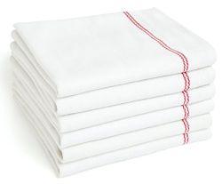 100% coton torchons en coton blanc ordinaire soft